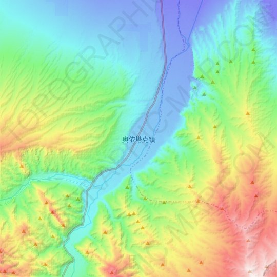 Oytak topographic map, relief map, elevations map