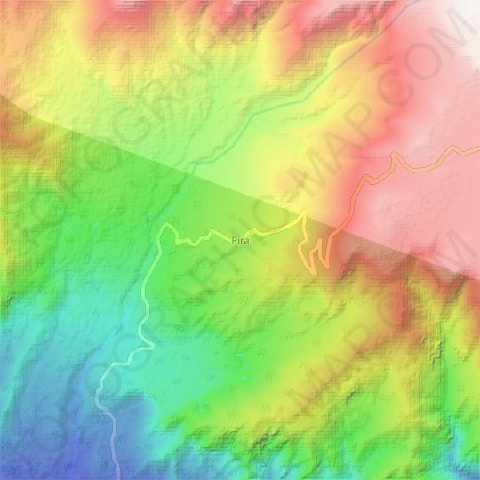 Rira topographic map, relief map, elevations map