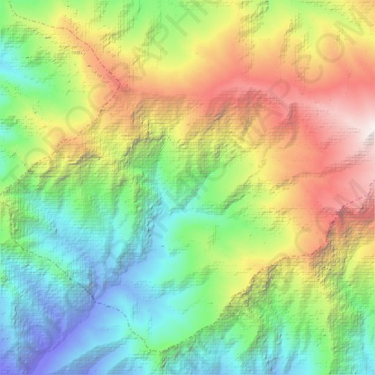 Huascaran topographic map, relief map, elevations map