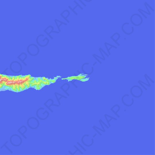 Pulau Lifumatola topographic map, relief map, elevations map