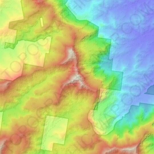 Mount Asplenium topographic map, relief map, elevations map