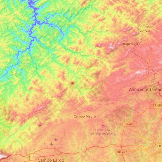 Campo Magro topographic map, relief map, elevations map