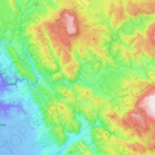 Blessington Topographic Map Elevation Relief