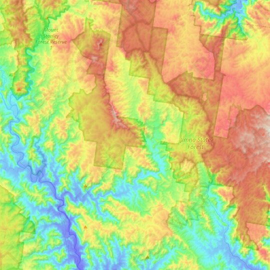 Monsildale topographic map, elevation, relief