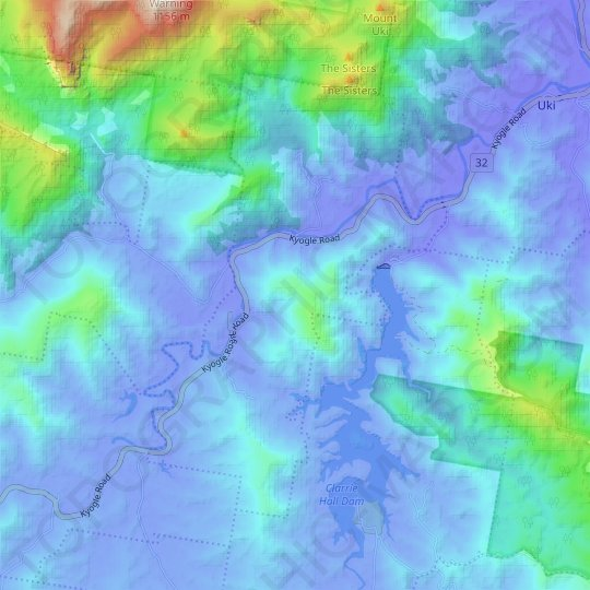 Terragon topographic map, relief map, elevations map