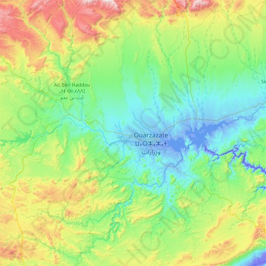 Iriri River topographic map, relief map, elevations map